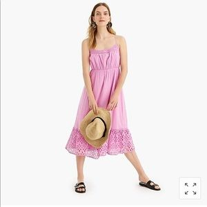 JCrew Ruffle Eyelet Trim Strappy Dress
